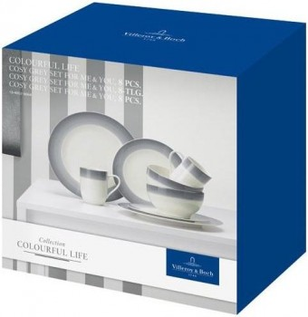 Villeroy & Boch Colourful Life Cosy Grey Set For Me & You 8tlg.