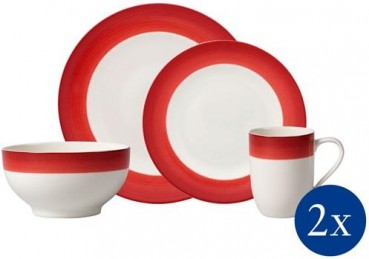 Villeroy & Boch Colourful Life Deep Red Set For Me & You 8tlg.