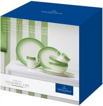 Villeroy & Boch Colourful Life Green Apple Set For Me & You 8tlg.