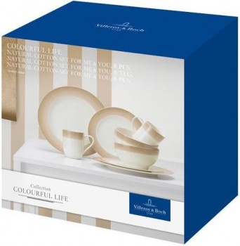 Villeroy & Boch Colourful Life Natural Cotton Set For Me & You 8tlg.