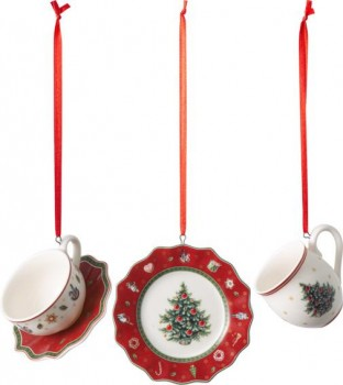 Villeroy & Boch Toy´s Delight Decoration Ornamente Geschirrset rot 3tlg.