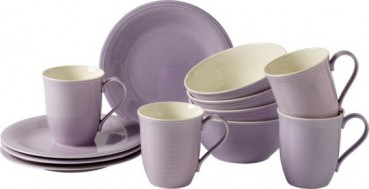like. by Villeroy & Boch Color Loop Blueblossom Frühstücks-Set 12tlg.