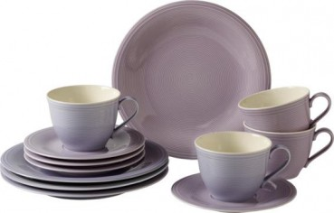 like. by Villeroy & Boch Color Loop Blueblossom Kaffee-Set 12tlg.