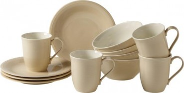 like. by Villeroy & Boch Color Loop Sand Frühstücks-Set 12tlg.