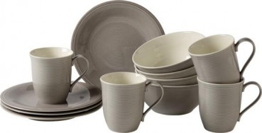 like. by Villeroy & Boch Color Loop Stone Frühstücks-Set 12tlg.