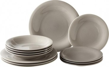 like. by Villeroy & Boch Color Loop Stone Starter-Teller-Set 12tlg.