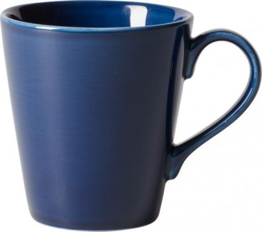 like. by Villeroy & Boch Organic Dark Blue Becher mit Henkel 350ml