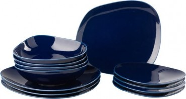 like. by Villeroy & Boch Organic Dark Blue Starter Teller Set 12tlg.