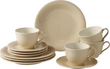 like. by Villeroy & Boch Color Loop Sand Kaffee-Set 12tlg.