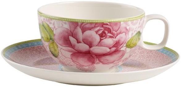 Rose Cottage Teetasse Mit Untertasse Pink Von The House Of Villeroy