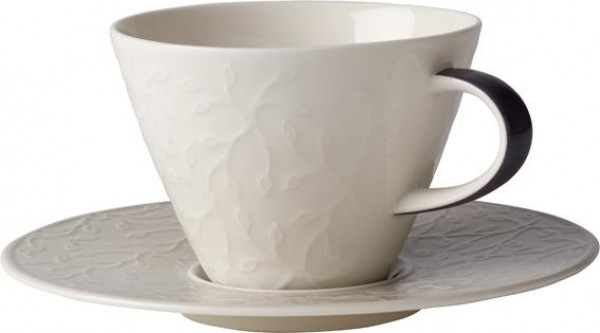 Villeroy-Boch-Caffe-Club-Floral-Touch-of-Smoke-Cafe-au-lait-Obertasse-Untertasse